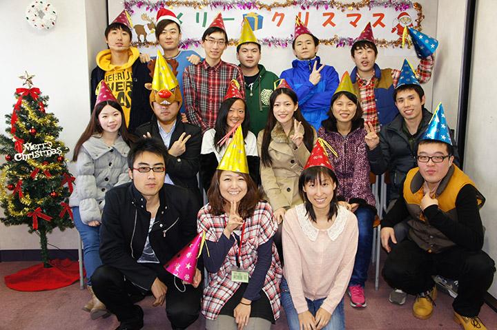 クリスマスパーティ、漢字コンテスト、期末試験、冬休み